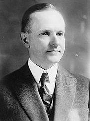 John Calvin Coolidge, Bain bw photo portrait