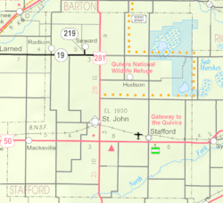 KDOT map of Stafford County (legend)