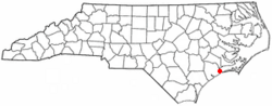 Location of Swansboro, North Carolina shown in North Carolina