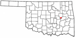 Location of Dewar, Oklahoma