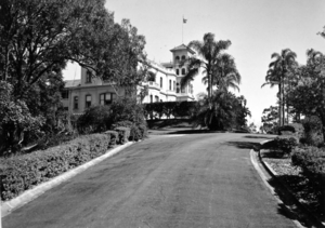 Queensland State Archives 1477 View of Government House along main drive 11 May 1950