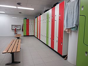 Lockers in modern change room