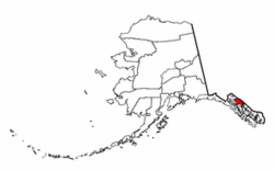Location of Juneau City and Borough, Alaska
