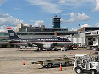 Aircraft at Philadelphia International Airport