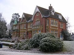 Goff's Park House, Crawley, winter scene