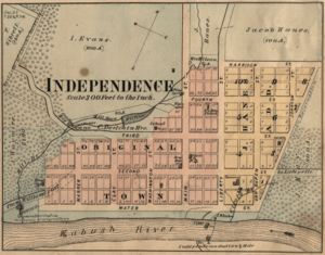 Independence Indiana map from 1877 atlas