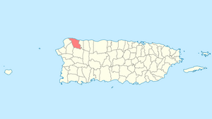 Location of Isabela in Puerto Rico