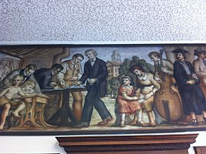 "Normal, IL Post Office mural, ""Development of the State Normal School"" by Albert Pele"