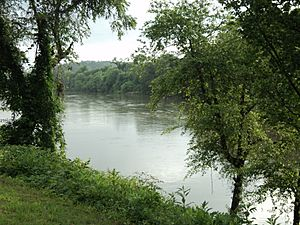 View of the Dan River Danville Virginia