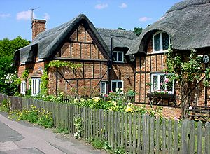 Ampthill thatched cottages