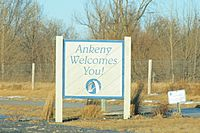 Ankeny Iowa 20080104 Welcome Sign