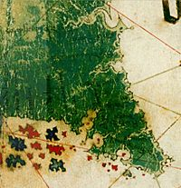 Cantino Map - 1502 - Florida