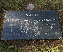 Grave of Clarence Nash at the San Fernando Mission Cemetery.