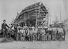 Mather Shipyard Crew, 1884