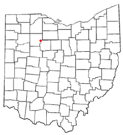 Location of Vanlue, Ohio