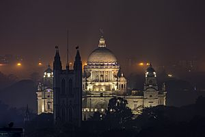 Victoria Memorial Kolkata at night