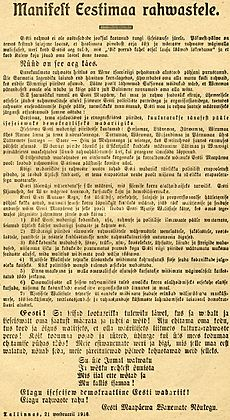 Estonian Declaration of Independence