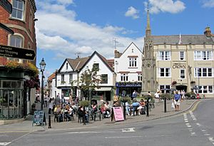 Glastonbury town centre arp