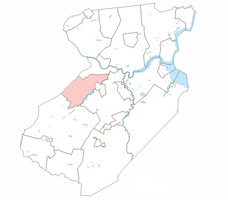 North Brunswick Township highlighted in Middlesex County.