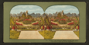 Flowers and statuary, Shaw's Garden, St. Louis, by Ingersoll, T. W. (Truman Ward), 1862-1922