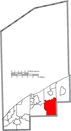 Location of LeRoy Township in Lake County
