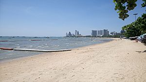 Pattaya beach on a sunny day in june 2017