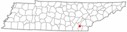 Location of Hopewell, Tennessee
