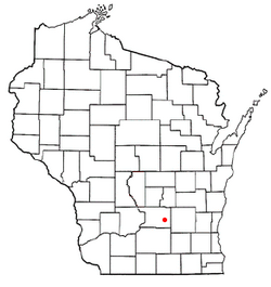Location of Doylestown, Wisconsin