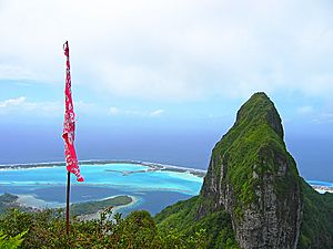 Bora Bora North-East view from Mt Pahia - French Polynesia