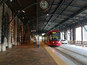 Central light rail station