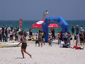 Kayaking competition Cottesloe