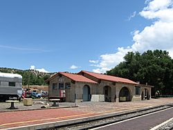Train station in Lamy