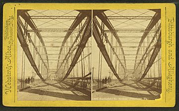 Smithfield St. Bridge, Pittsburg, Pa, from Robert N. Dennis collection of stereoscopic views