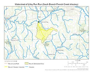 Watershed of Lilley Run (South Branch French Creek tributary)