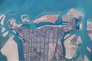 Abu Dhabi from Space-ISS006-E-32079-March 2003