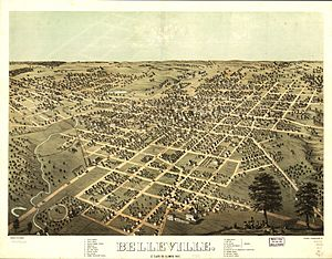 Bird's Eye View of Belleville, Illinois