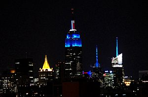 Empire State Building Blue Obama Election