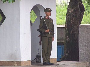 North Korean soldier Demilitarized Zone of Korea 2005