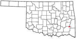 Location of Albion, Oklahoma