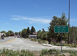 Entering San Luis from the west