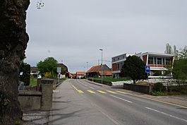 The village center of Rossens