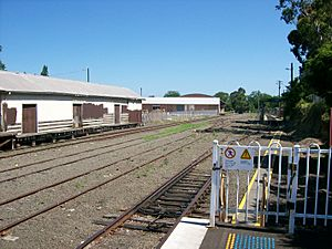 Bomaderry railway station end of the line