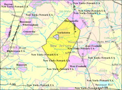 Census Bureau map of Manalapan Township, New Jersey