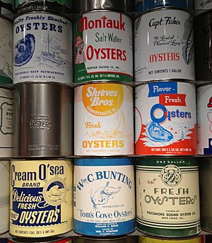 Chincoteague oyster cans