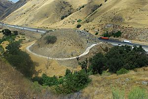Dead-Man's Curve in Lebec, California, 2010