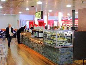 Hobart Airport cafe