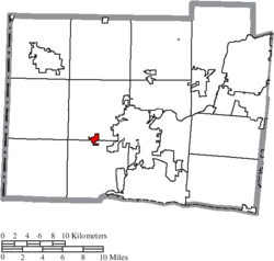 Location of Millville in Butler County