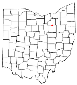 Location of Creston, Ohio