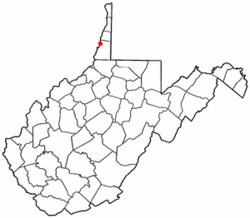Location of McMechen, West Virginia