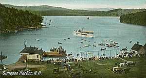 Bird's-eye View, Sunapee Harbor, NH